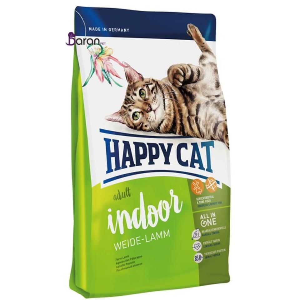 غذای خشک گربه هپی کت ایندور حاوی گوشت بره (10 کیلوگرم)