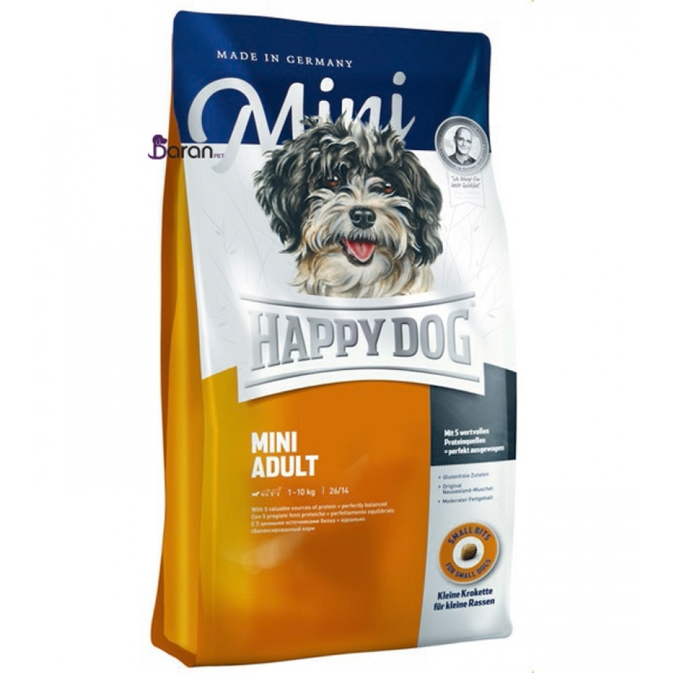 غذای سگ بالغ نژاد کوچک هپی داگ (4 کیلوگرم)