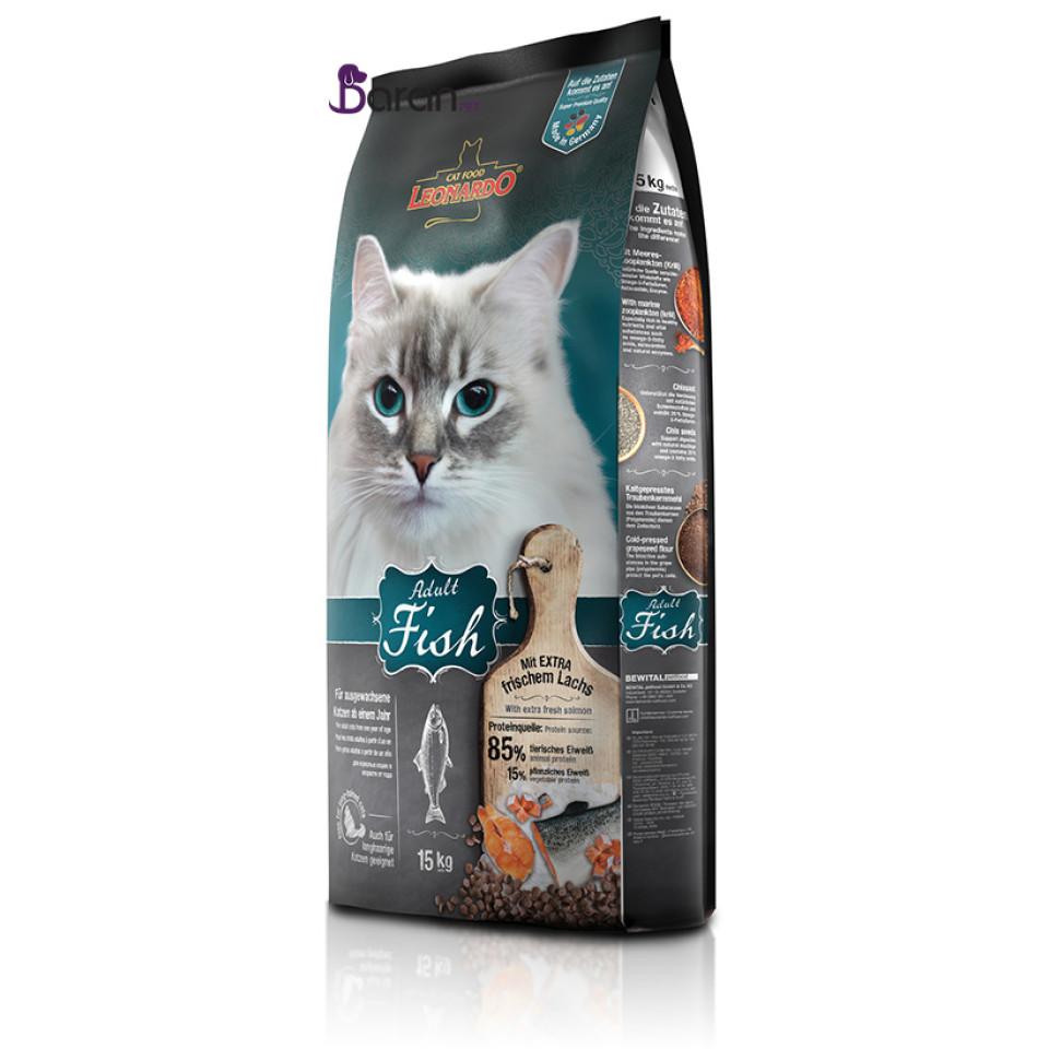 غذای گربه بالغ لئوناردو حاوی ماهی (15 کیلوگرم)