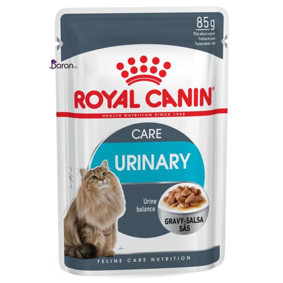 پوچ گربه رویال کنین مخصوص مراقبت و سلامت دستگاه ادراری در سوپ گوشت