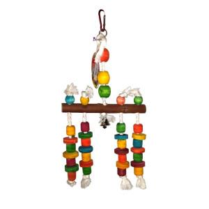 اسباب بازی آویز چوبی مخصوص پرندگان
