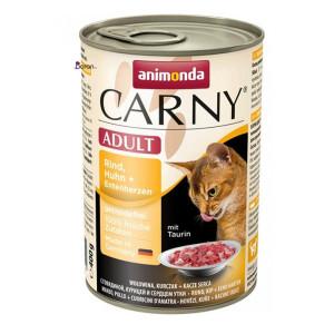 کنسرو گربه کارنی حاوی گوشت گاو، مرغ و دل اردک (۴۰۰ گرم)
