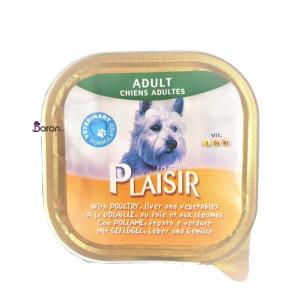 کنسرو سگ پلایزر حاوی مرغ، جگر و سبزیجات (۳۰۰ گرم)