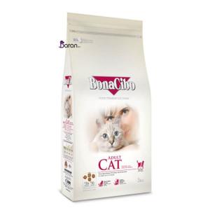 غذای گربه بالغ بوناسیبو حاوی مرغ و ماهی (۳ کیلوگرم)