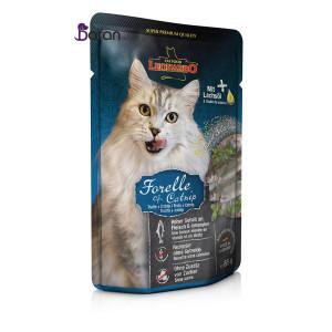 پوچ گربه لئوناردو حاوی ماهی قزل آلا و کتنیپ (۸۵ گرم)